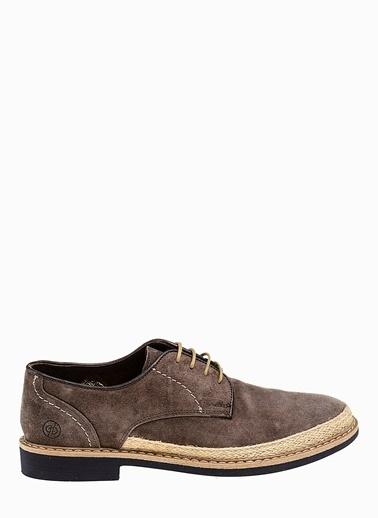 Divarese %100 Deri Bağcıklı Ayakkabı Vizon